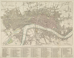 The London directory, or a new & improved plan of London, Westminster & Southwark with the adjacent country, the new buildings, the new road and the late alterations by opening of new streets, & widening of others 1797